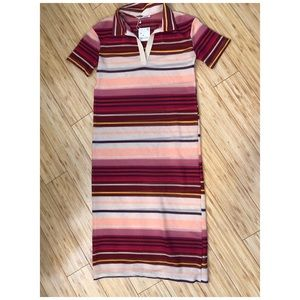 Zara NWT striped sheer dress